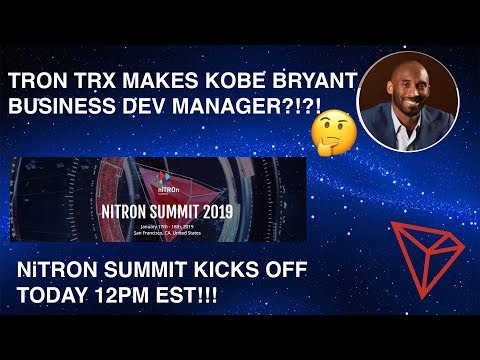 TRON TRX MAKES KOBE BRYANT BUSINESS DEV MANAGER?!?!