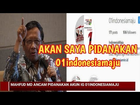 MENGEJUTKAN!!! ~ ADA APA PROF.MAHFUD MD MARAH DAN ANCAM PIDANAKAN 01indonesiamaju