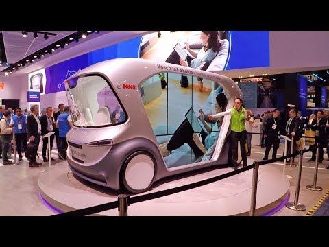Bosch Internet of Things IOT Shuttle Demonstration (Self Driving Car)
