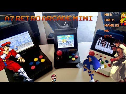 ?️LA ÚLTIMA ARCADE, A7 RETRO ARCADE MINI, Neo Geo mini clon