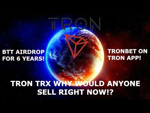 TRON TRX WHY WOULD ANYONE SELL RIGHT NOW!? HOW COULD U NOT BE BULLISH!!!?