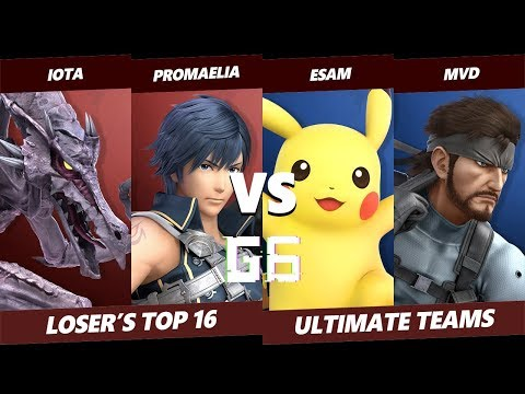 Glitch 6 SSBU – Iota & Promaelia VS ESAM & MVD – Smash Ultimate Teams Loser's Top 16