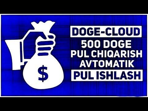 DOGE-CLOUD 500 DOGE ПУЛ ЧИКАРИШ / АВТОМАТИК ПУЛ ИШЛАШ