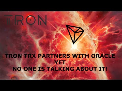 TRON TRX PARTNERS WITH ORACLE YET NO ONE IS TALKING ABOUT IT!