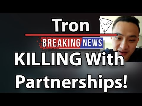 Tron (TRX) Partnerships & Justin Sun Interview!
