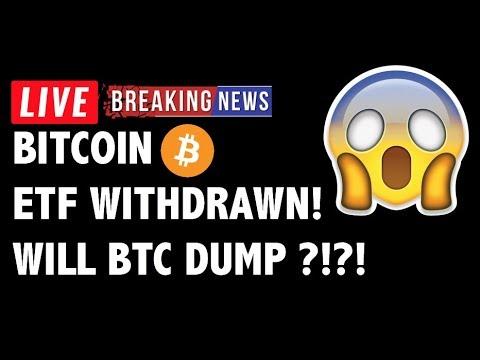 😱 Bitcoin ETF WITHDRAWN! Will BTC DUMP NOW?! – Crypto Market Trading Analysis & Cryptocurrency News
