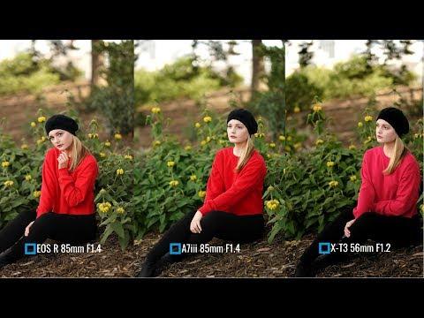 Fujifilm X-T3 vs Sony A7iii vs Canon EOS R (85mm Portraits) w/ @bec_novak