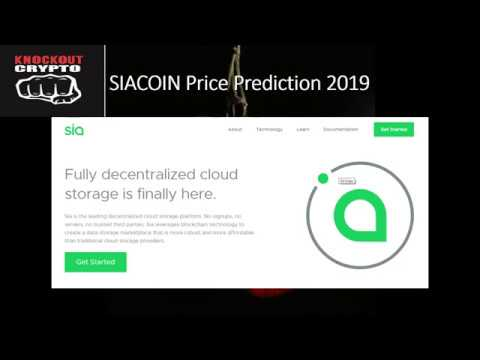 SIACOIN Price Prediction 2019