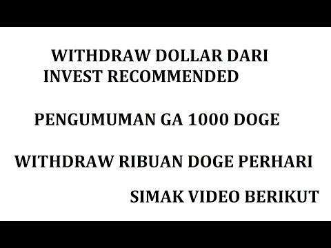 WITHDRAW TOPHAT FARM INVES JANGKA PANJANG [ PENGUMUMAN GA 1000 DOGE ]