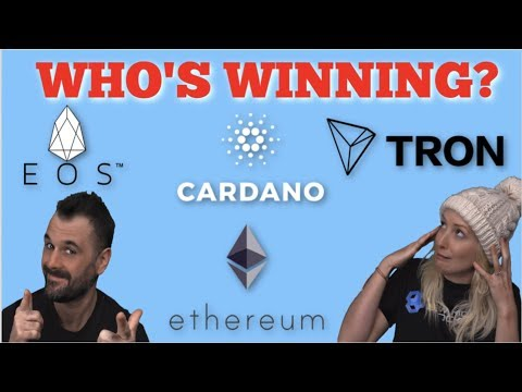 EOS, TRON, CARDANO AND ETHEREUM. WHO'S WINNING? XRP MASSIVELY OVERVALUED?