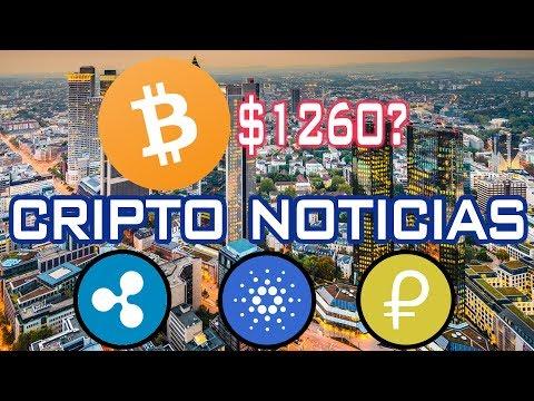 ✅¿Bitcoin a $1260? | CRIPTO NOTICIAS | Ripple XRP, Petro, Cardano, Bitcoin ATM