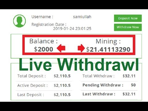 New High Paying Bitcoin Cloud Mining Site 2019 | Live Withdrawl | 20$ Free Bouns