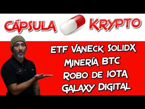 Minería BTC | Robo de IOTA | Galaxy Digital | ETF VanEck Solid X | Cápsula Krypto