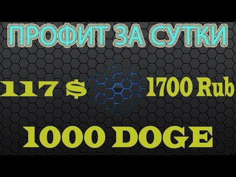 PROFIT за сутки – 117$ USD | 1700 Rub | 1000 DOGE