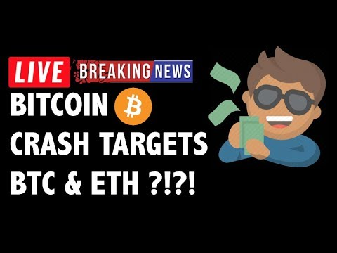 ?CRASH TARGETS for Bitcoin (BTC) & Ethereum! – Crypto Market Trading Analysis & Cryptocurrency News
