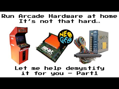 Running Neo Geo Arcade Hardware in your Arcade1up / Arcade Cabinet – Part 1