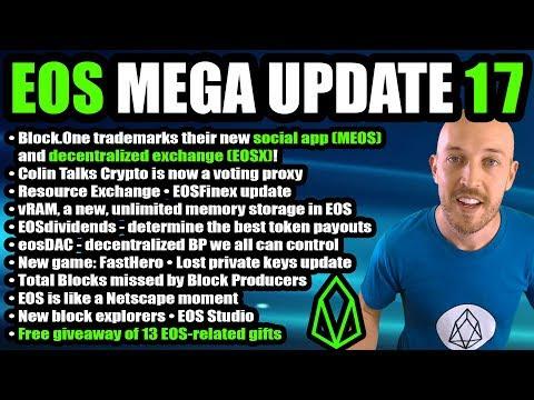 EOS Mega Update 17: EOSX, MEOS, vRAM, REX, Houbi EOS, BitFinex, eosDAC, FastHero, 13 Prizes Giveaway