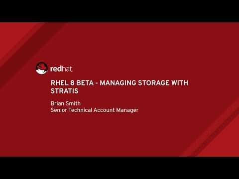 RHEL 8 Beta – Managing Storage With Stratis