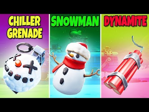 CHILLER GRENADE vs SNOWMAN vs DYNAMITE – Fortnite Battle Royale! (Fortnite BCC) #7