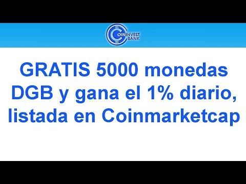GRATIS 5000 monedas DGB y gana el 1% diario, listada en Coinmarketcap