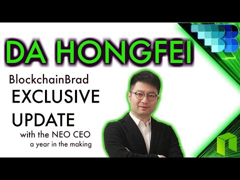 Da Hongfei Exclusive  | BlockchainBrad | NEO | Smart Economy | Candid Crypto Interview