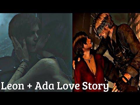 All Ada & Leon Saving Each Other & Flirting Cutscenes + Kiss – Resident Evil Series