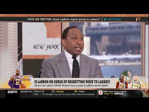 """Stephen A. Smith STRONG REACT """"Is LeBron on verge of regreting move to Lakers"""" 