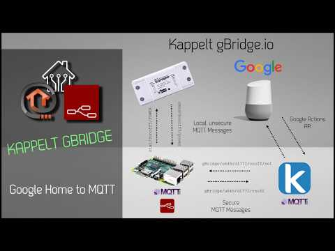 Google Home to MQTT: control all your IoT device with Google via gBridge.io