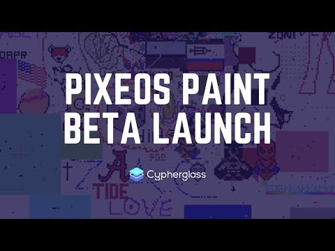 pixEOS Paint Beta Launch (EOS Dapp Game)