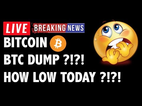 Bitcoin HOW LOW WILL BTC DUMP TODAY?! – Crypto Market Trading Analysis & Cryptocurrency News