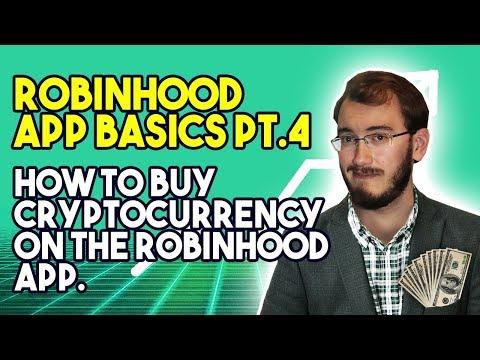 Robinhood App Basics Pt.4 – How To Buy Cryptocurrency On The Robinhood App – Simple And EASY!