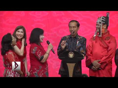 Ada gelak tawa Jokowi bersama warga tionghoa