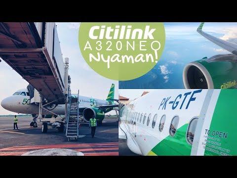 Terbang NYAMAN Citilink A320-NEO! Flight QG712 Jakarta ke Surabaya