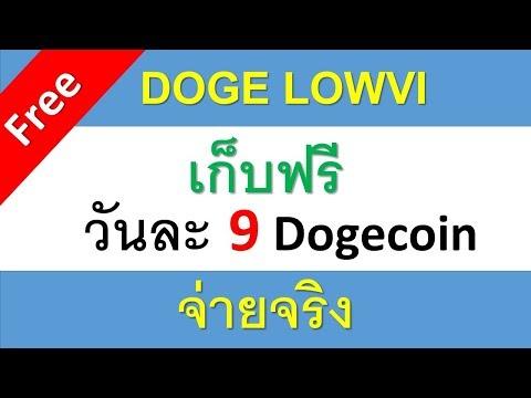 DOGE LOWVI รับฟรีวันละ 9 Dogecoin จ่ายจริง 100%