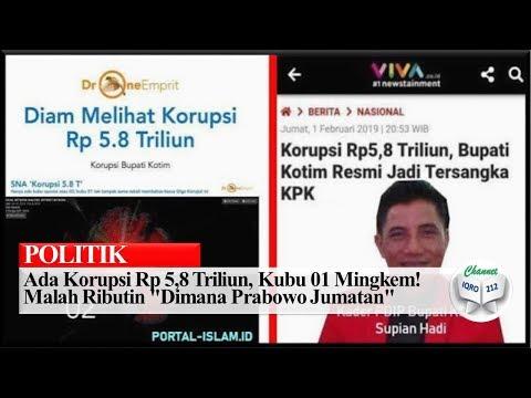 """Ada Korupsi Rp 5,8 Triliun, Kubu 01 Mingkem! Malah Ributin """"Dimana Prabowo Jumatan"""""""