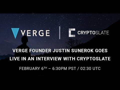 Verge Founder Justin Sunerok Talks About the Future and Potential of XVG [Interview]