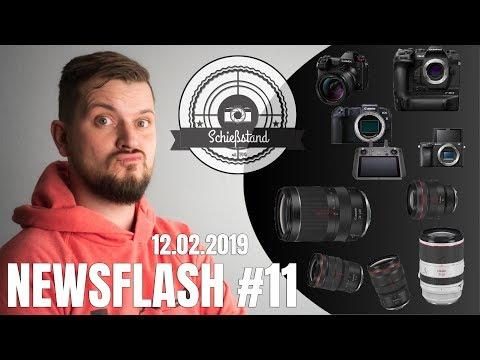 NEWSFLASH #11 – SONY a6400 & Firmware Updates, Panasonic S1/R, Canon EOS-RP?! Neue RF Linsen! uvm.