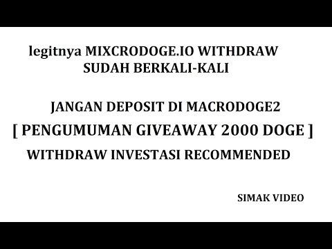 LEGITNYA MIXCRO IO dan JANGAN DEPO DI MACRODOGE2  [PENGUMUMAN GA 2000 DOGE]
