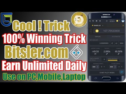 bitsler.com 100% Working Auto Bet Doge Coin Cool Trick 2019 Urdu/Hindi