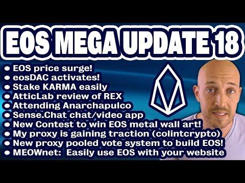 EOS Mega Update 18: EOS price surge! eosDAC activates! REX review, Anarchapulco, MEOWnet, $100 EOS?