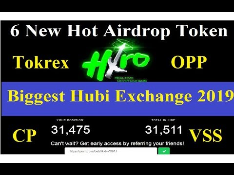6 New Hot Free Airdrop Token 2019|| Biggest Hubi Exchange with Big Bonus