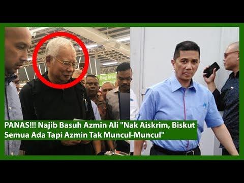 "PANAS!!! Najib Basuh Azmin Ali ""Nak Aiskrim, Biskut Semua Ada Tapi Azmin Tak Muncul-Muncul"""