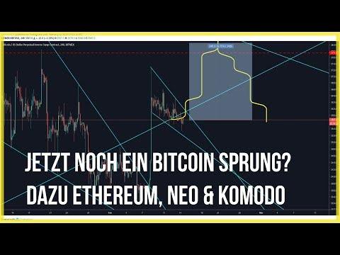 😏3900$ Bitcoin Preis am Wochenende? 🗻Ethereum, NEO & Komodo legen zu