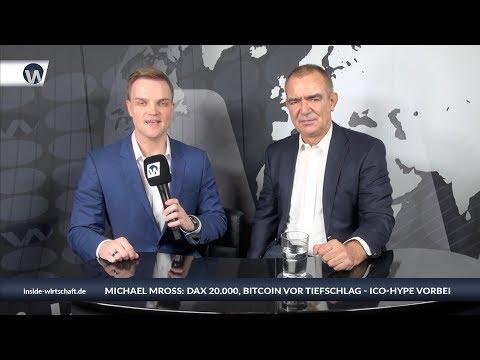 "Michael Mross: ""Dax 20.000, Bitcoin vor Tiefschlag, ICOs Betrug, Gold"""