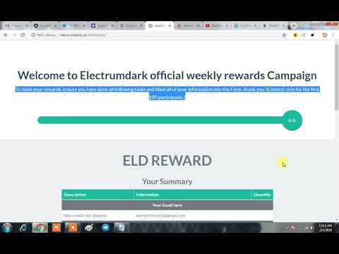 Get Hdp & DGA Airdrop Coins|Sign Up For Electrum (ELD) $50 Airdrop Coins