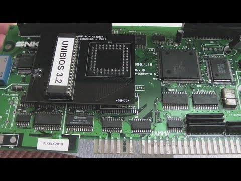 SNK Neo Geo SMD to DIP ROM Adapter for PLCC 68000 CPU (MV1B / MV1C)
