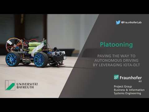 IOTA-based Platooning by Fraunhofer BlockchainLab
