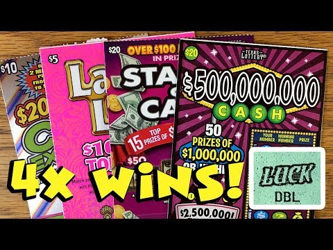 4X Wins! ? $90 in Tix from Austin! ✦ TEXAS LOTTERY Scratch Off Tickets