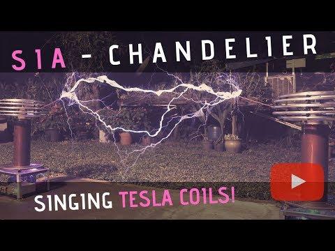 Sia – Chandelier Meets Singing Tesla Coils (Bobinas de Tesla)