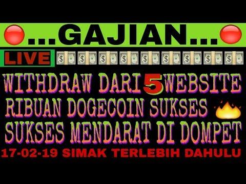 GAJIAN DI 5 SITUS | SUKSES WITHDRAW | RIBUAN DOGECOIN